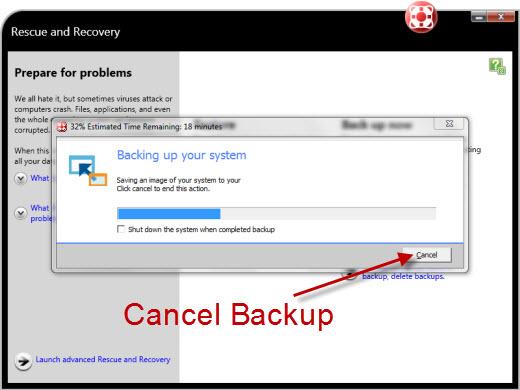 Cancel br_funcs.exe backup