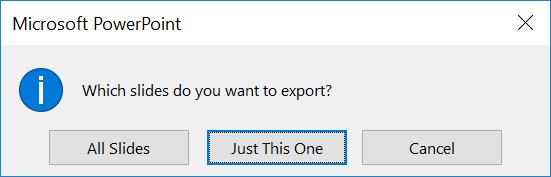 PowerPoint Export Options