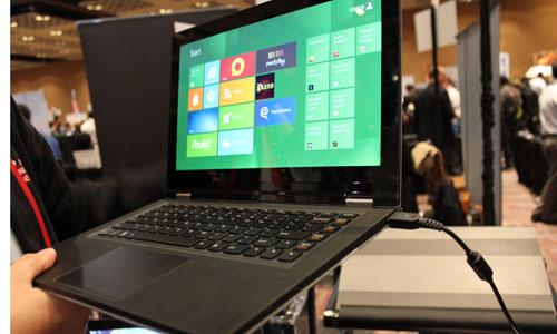 Lenovo IdeaPad YOGA side view