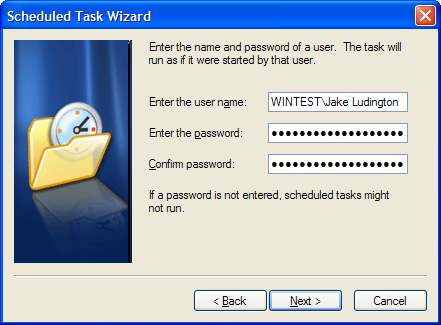 set Windows account password