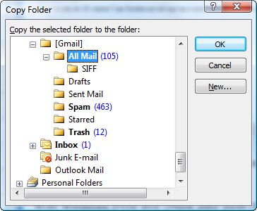Outlook Copy Folder To
