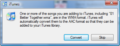 how to play wma files in itunes