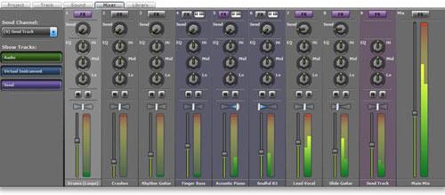 Mixcraft Mixer Interface