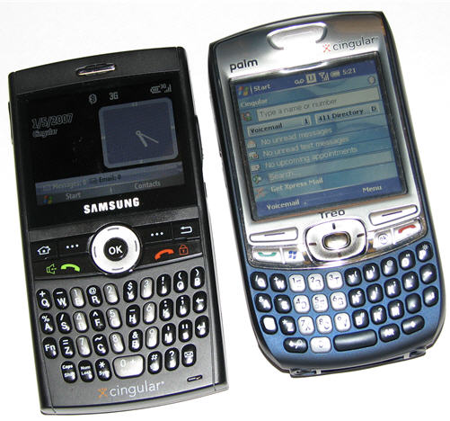 Treo 750 side-by-side with BlackJack