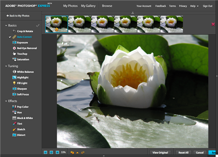 Photoshop Express Online Photo Editing