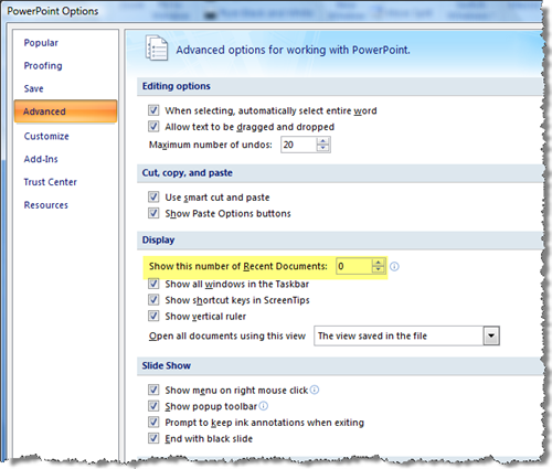 How To Delete Recent Documents List In Office 2007