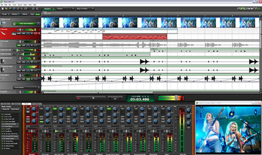 Mixcraft is like GarageBand for Windows