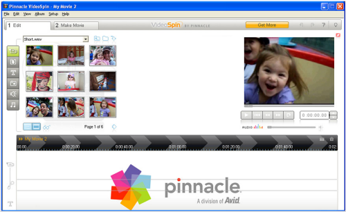 Pinnacle VideoSpin Screenshot