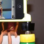 Finished DIY iPhone Bottle Cap Tripod