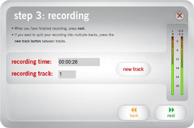 ez Vinyl Convert insert next track