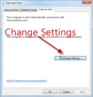 Change windows clock settings to backdate computer