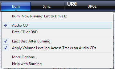 Burn an audio CD with Windows Media Player 11