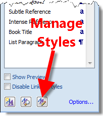 Manage Styles in Word 2007