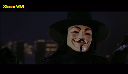 Xbox Video Marketplace V for Vendetta Screen Grab