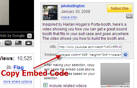 Copy YouTube Code